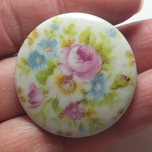 Antique porcelain peony flowers Pin